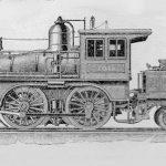 Amerikanische Lokomotive
