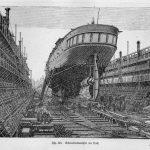Dampfer im Dock