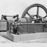 liegender Petroleum-Motor